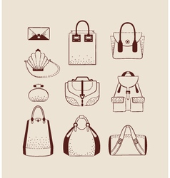 Woman bags for day and evening vector
