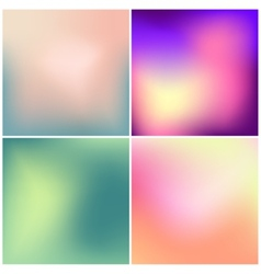 Set of 4 blurred backgrounds vector