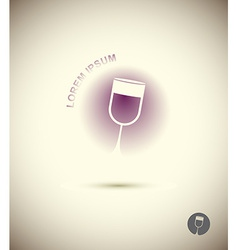 Logo wine glass concept icon for sommeliers wine vector