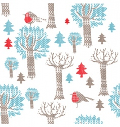 knitted Christmas icons vector image