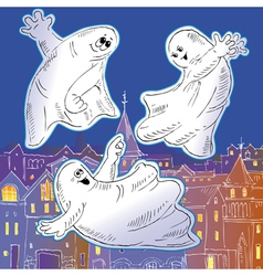 Ghost drawing vector