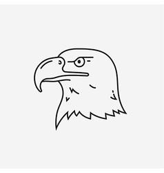 Eagle head mascot line icon vector image