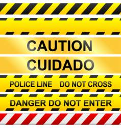 caution tape vector image