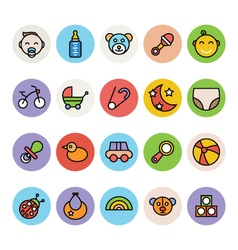 Baby icons 1 vector