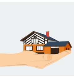 Hand with home vector