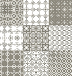 Seamless grey geometric pattern vector