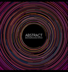 abstract colorful random circular lines background vector image vector image