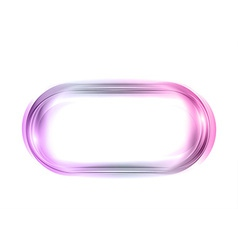 abstract shape white purple oval vector image
