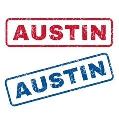 Austin rubber stamps vector