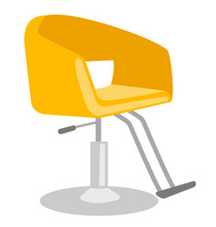 barber chair cartoon vector image vector image