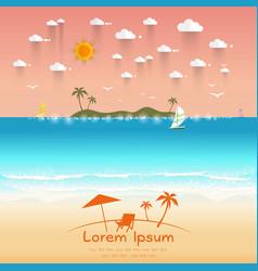 Beautiful beach summer offers vector