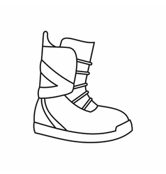 Boot for snowboarding icon outline style vector image vector image