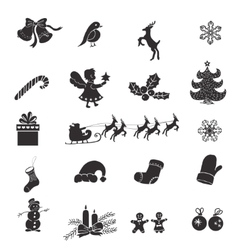 Christmas isolated icons on a white background vector image