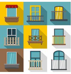 decorative elements on windows icons set vector image