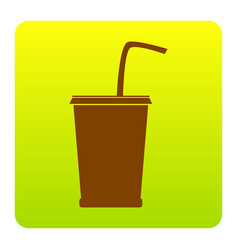 drink sign brown icon at vector image