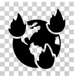 Earth disasters icon vector