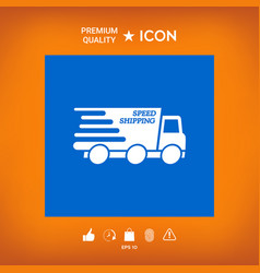 Express delivery icon delivery car with an vector