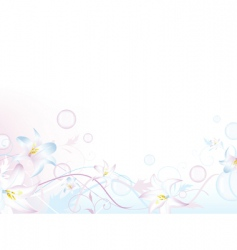 floral bubbly decoration vector image