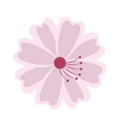 flower japanese isolated icon vector image vector image