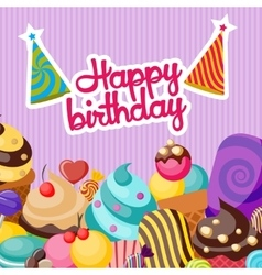 Happy Birthday Composition vector image vector image