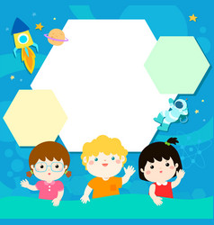 happy children xaon universe background vector image
