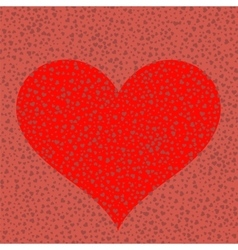 Heart on red romantic background vector