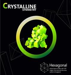 Hexagonal 01 vector