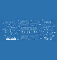Hud ui for virtual reality glasses futuristic vector