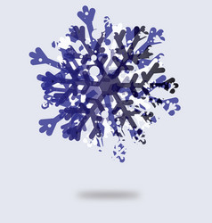 Icon of beautiful snowflake vector image vector image
