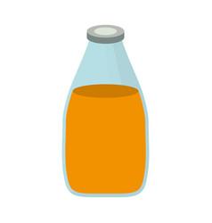 Juice bottle icon vector