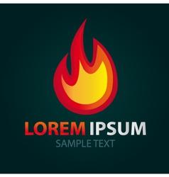 Logo Fire abstract icon vector image vector image