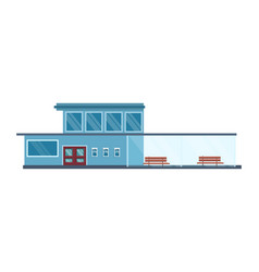 modern architecture of light railroad station vector image