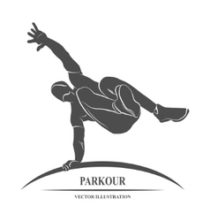 Parkour Jump Silhouette vector image vector image