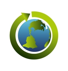 planet world global earth ecology vector image