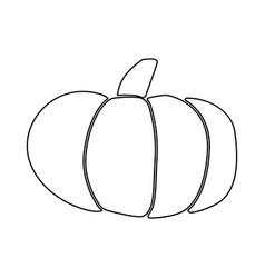 Pumpkin black color icon vector