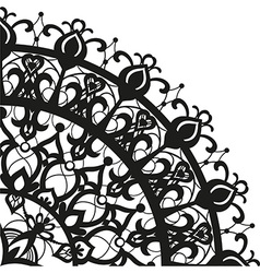 Quadrant ornament in ethnic style vector