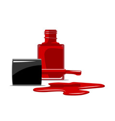 red nail polish splatter on white background flat vector image