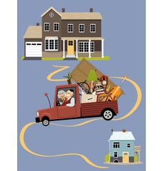 Seniors moving to a new home vector