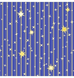 Stripy pattern with stars vector image