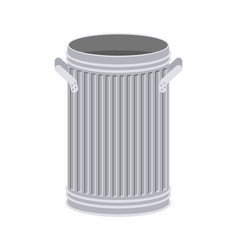 Trash can open isolated wheelie bin on white vector
