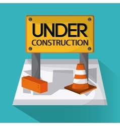 Under construction design tool icon colorful vector