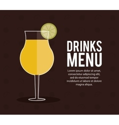 Cocktail lemon glass summer alcohol icon vector