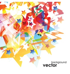 Abstract stars Background vector image