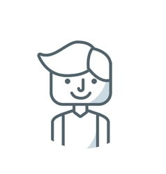 Man person avatar flat icon vector