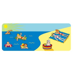 Rest on a seashore vector