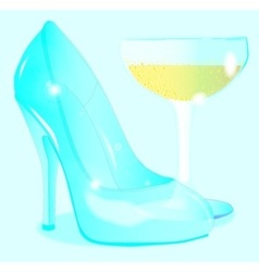 Glass Slipper vector image