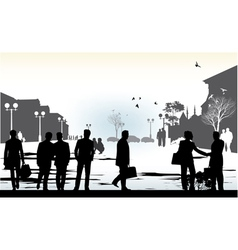 Business people in city vector