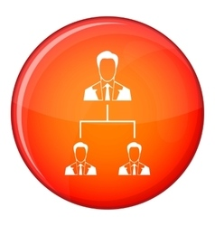 Company structure icon flat style vector image