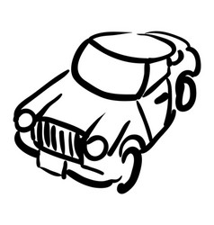Cartoon image of car icon automobile symbol vector
