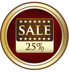 twenty five percent sale icon vector image